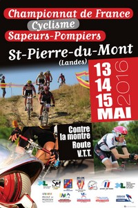 image : affiche championnat de France cyclisme des Sapeurs-Pompiers