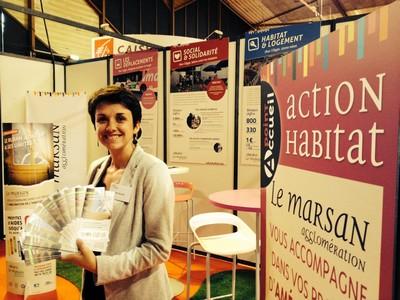 image : Stand Action habitat au salon des Autonales de Mont de Marsan